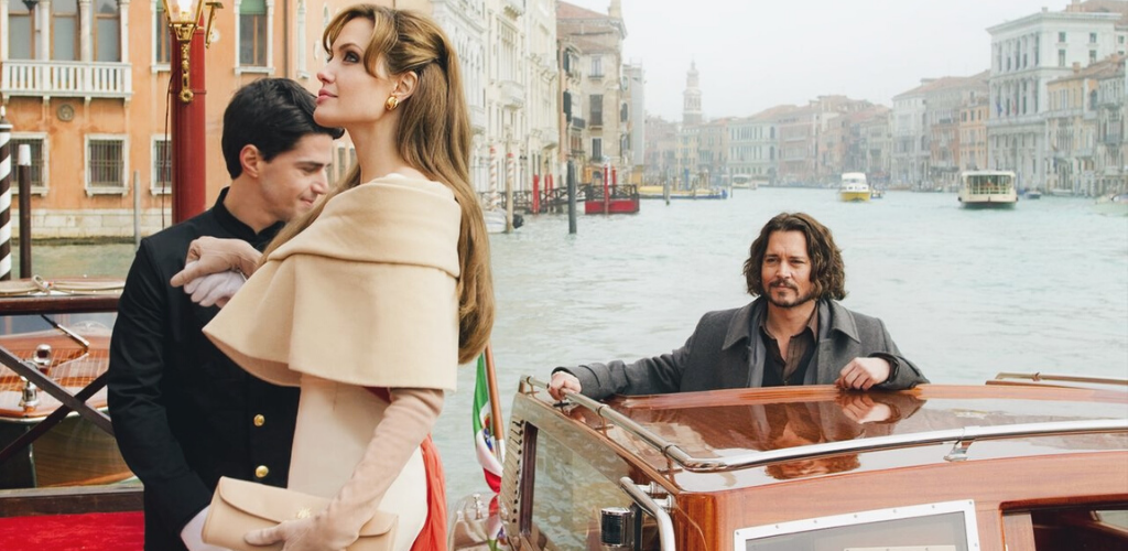 Angelina Joli et Johnny Depp dans The Tourist