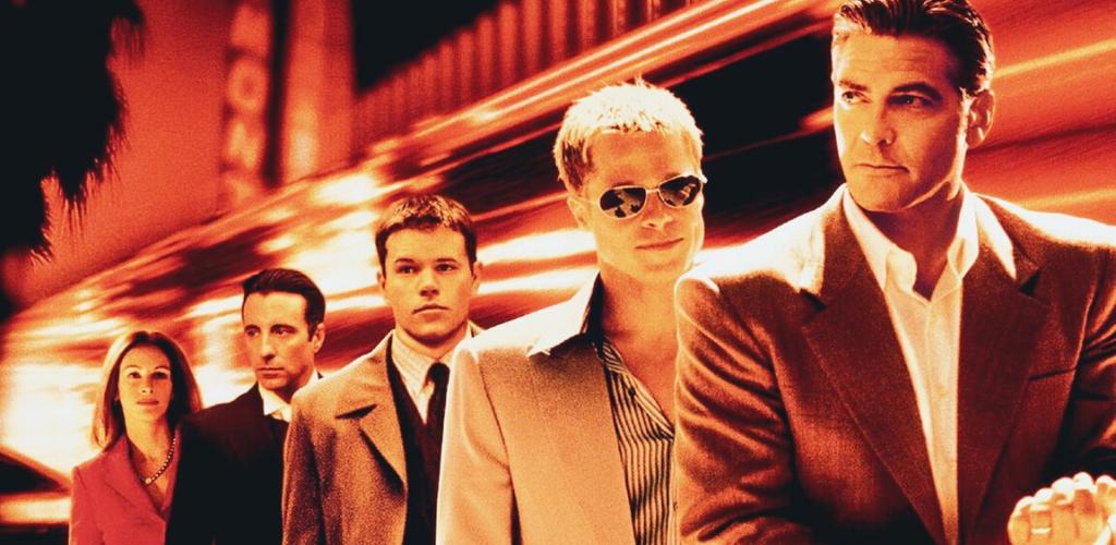 Brad Pitt et George Clooney dans Oceant's Eleven, Twelve et Thirteen